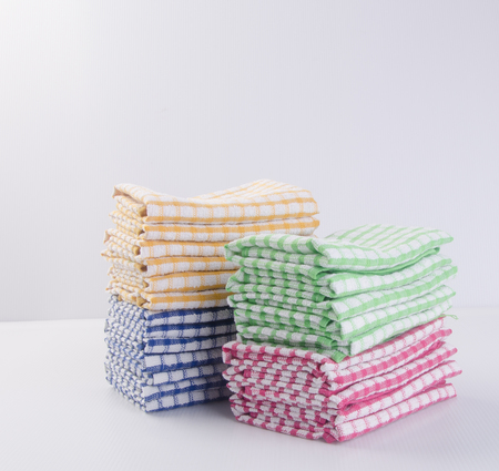 dishcloth: towel or kitchen towel on a background