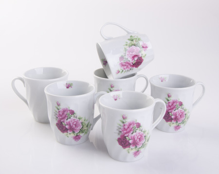 cup or cup sets on a background Stock Photo