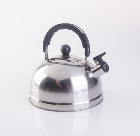 kettle or stainless steel kettle on background