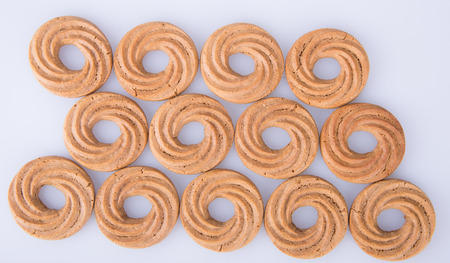 cookie or ring biscuits on a background Stock Photo