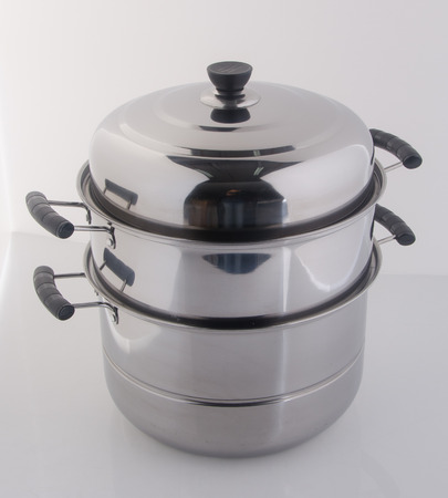 recipient: pan or steamer pan on a background