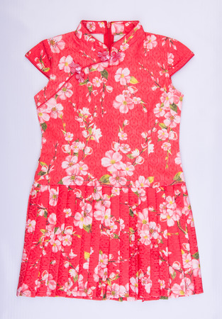 kids chinese dress for girls on the background