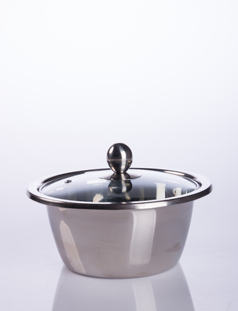 steel pan: pan or stainless steel pan on background