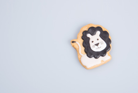 calico: cake decoration or homemade lion cake decoration on a background Stock Photo