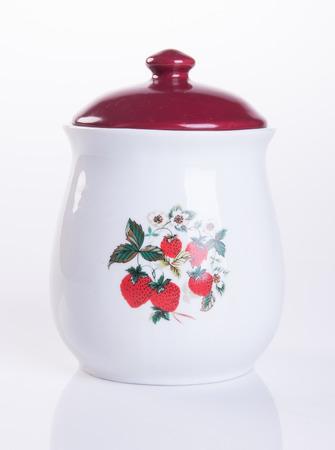 jar or ceramic jar on a background Stock Photo