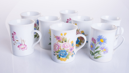 cup or ceramic mug on the background
