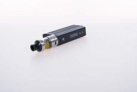 purported: electronic cigarette or vaping device on background Stock Photo