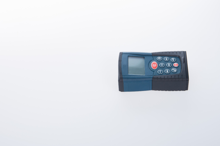 architectural survey: Architectural tool or laser rangefinder on a background