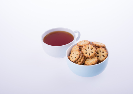 cookies or Tea and cookies on background