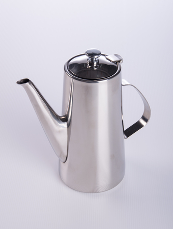tea pots or stainless steel tea pots on the background