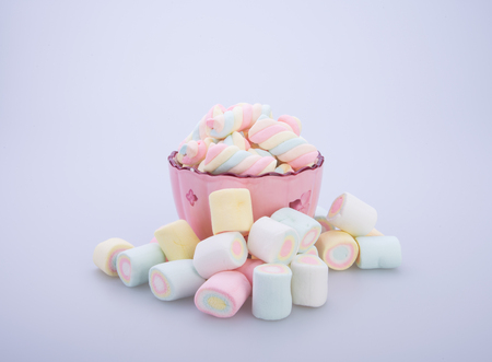 marshmallows or marshmallows candy on the background