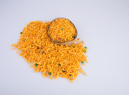 murkoo: murukku or traditional indian snack chakli and chakali on background