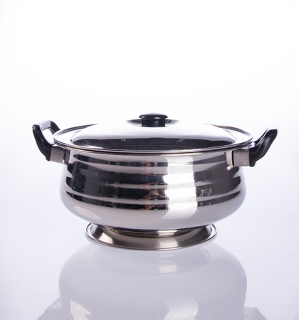 food containers or stainless steel food containers on a background