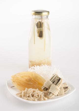 collocation: health tea or Chinese medicine health tea on background