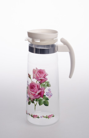 Water Jar or Empty glass jar on a background