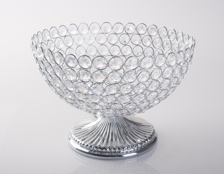 bowl or empty crystal bowl on the background