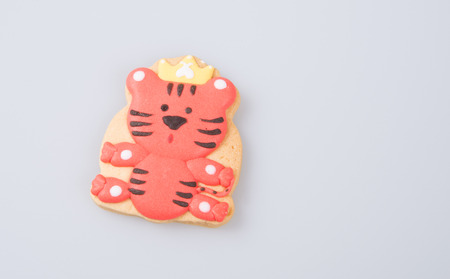 cake decoration or homemade lion cake decoration on a background Stock Photo