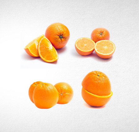 orange or collection orange on a background Stock Photo