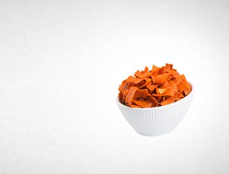 ridged: Junk food on white background Stock Photo