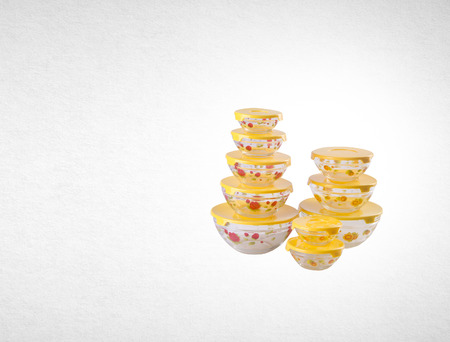 food containers or glass food containers on background