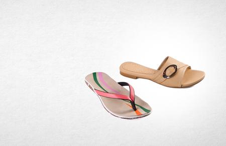 shoe or female fashion sandal on Background Stock Photo