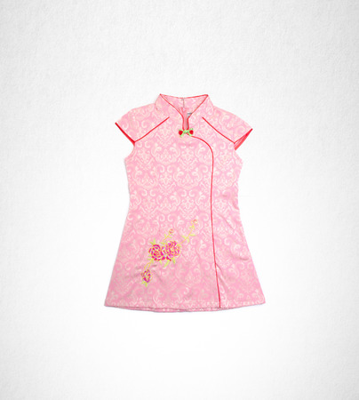 Dress or Traditional chinese dress for girls on a background
