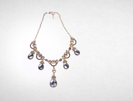 necklace or shiny necklace on a background