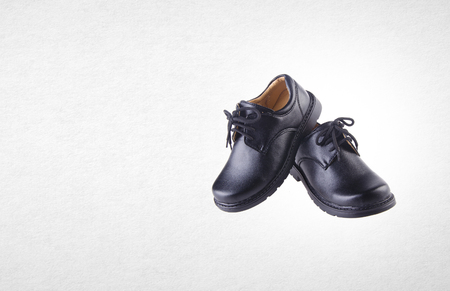 shoe or boy shoes on a background Stock Photo