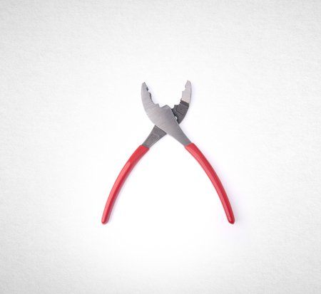Pliers or The manual tool on a background