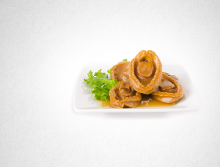 abalones or raw abalones on the background Stock Photo
