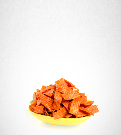 ridged: Junk food or snack food on a background