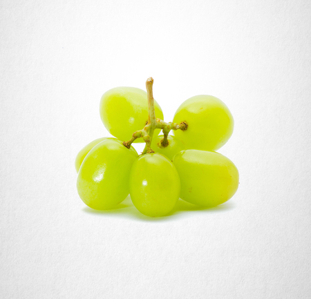 tendrils: Green grapes on a background