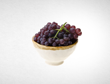 Grapes or red grapes on a background
