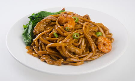 noodles. stir-fried noodles with chicken Stock Photo