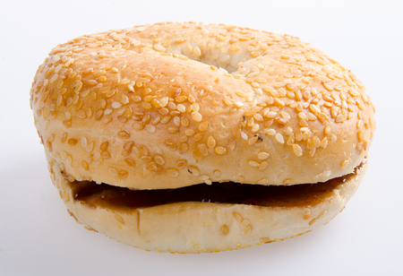 donut. donut burger on the background Stock Photo