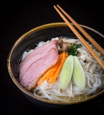 japanese cuisine. udon on background
