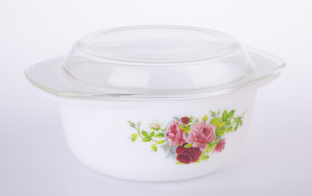bowl, ceramic bowl on white background Stock Photo