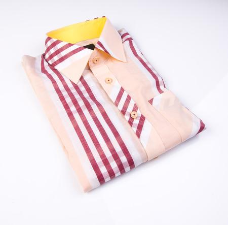 shirt. mens shirt folded on background
