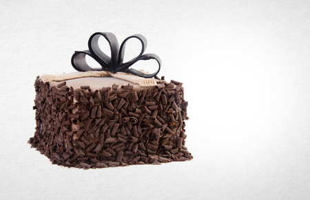 cake or chocolate cake on a background