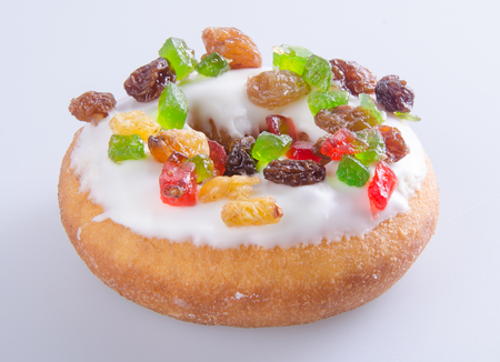 Donut, Colorful Donuts on the background Stock Photo