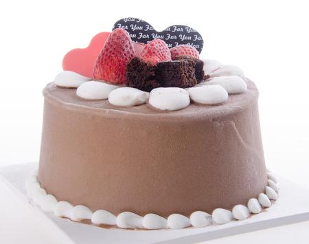 ice cream cake. chocolate ice cream cake Stock Photo