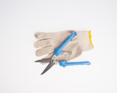 scissors or garden secateurs on a background 写真素材