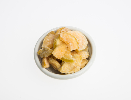 dried guava or dried fruits on a background