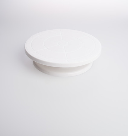 cake stand or rotating cake stand on a background