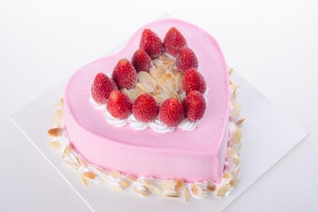 cake, Ice-cream cake on white background