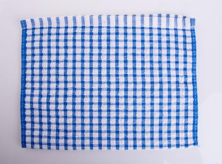 Kitchen towel on the white background Stock Photo