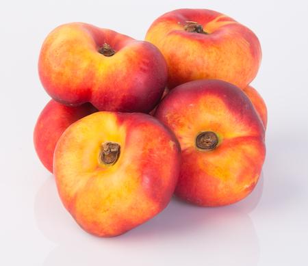 peaches on the white background