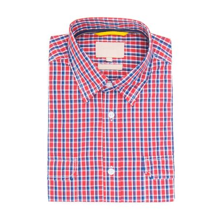 shirt or isolated folded fashionable men shirt new