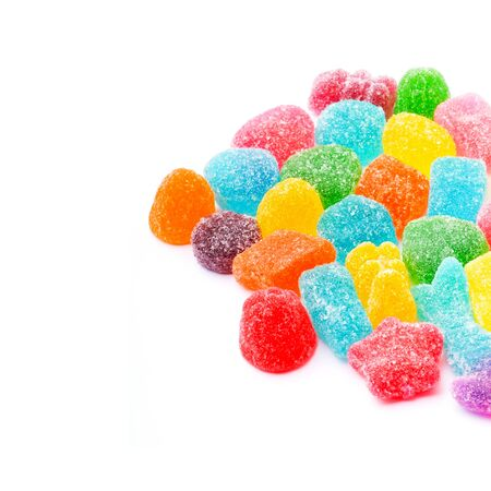 candies or jelly candies on a white background