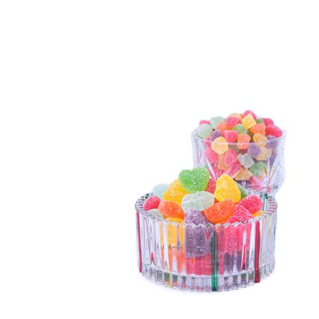 candies or jelly candies on a white background new